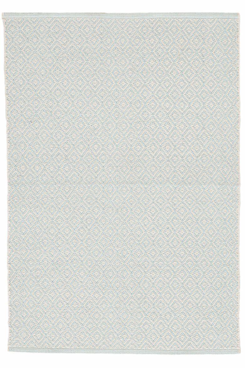 Lattice Cotton Sky Area Rug Rug Size: 6' x 9'