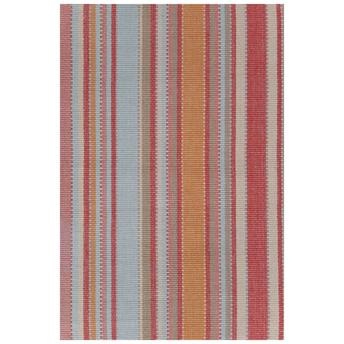 Hand Woven Red/Blue Area Rug Rug Size: 4' x 6'