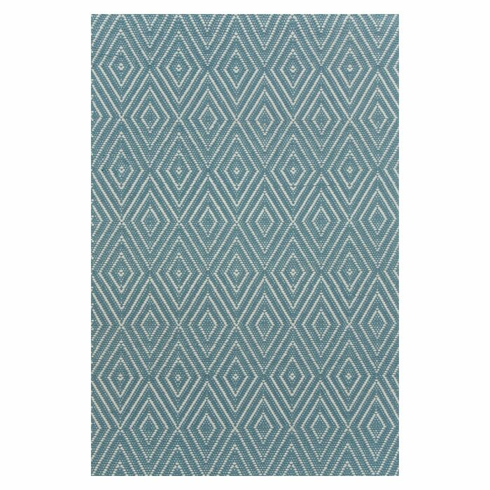 Hand Woven Blue Indoor/Outdoor Area Rug Rug Size: 4' x 6'