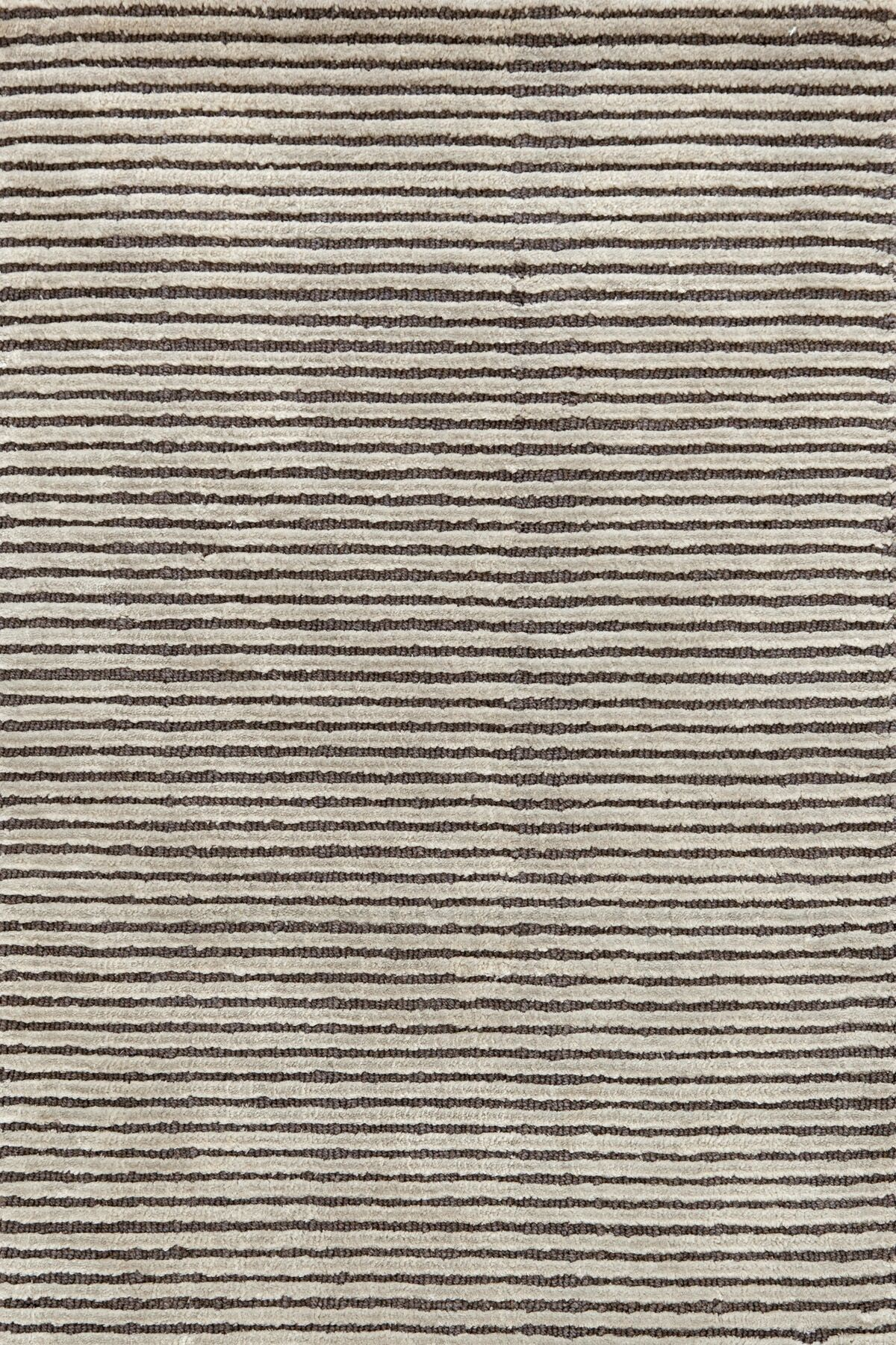 Cut Stripe Knotted Grey Area Rug Rug Size: 8' x 10'