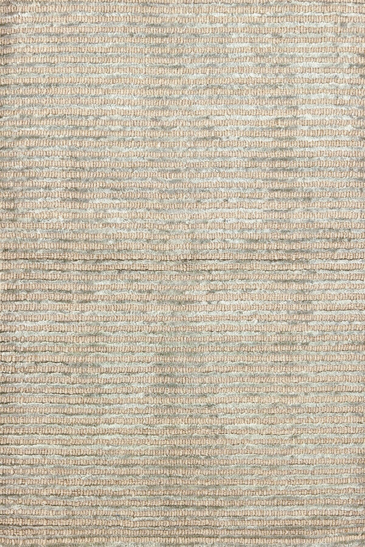 Cut Stripe Ocean Hand-Knotted Beige Area Rug Rug Size: Rectangle 10' x 14'