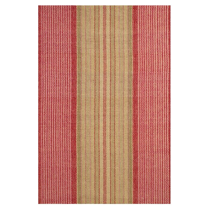 Hand Woven Cotton Red Area Rug Rug Size: 8' x 10'