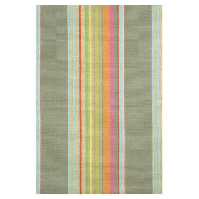 Hand Woven Cotton Green Area Rug Rug Size: Runner 2'5