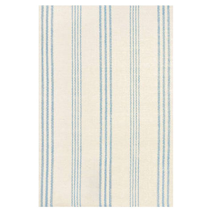 Hand Woven Blue/Ivory Area Rug Rug Size: Runner 2'5