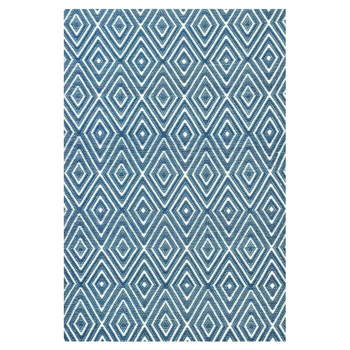 Hand Woven Blue Indoor/Outdoor Area Rug Rug Size: Rectangle 6' x 9'