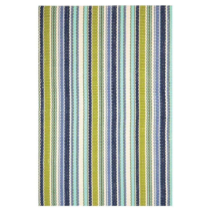 Hand Woven Green/Blue Indoor/Outdoor Area Rug Rug Size: 4' x 6'