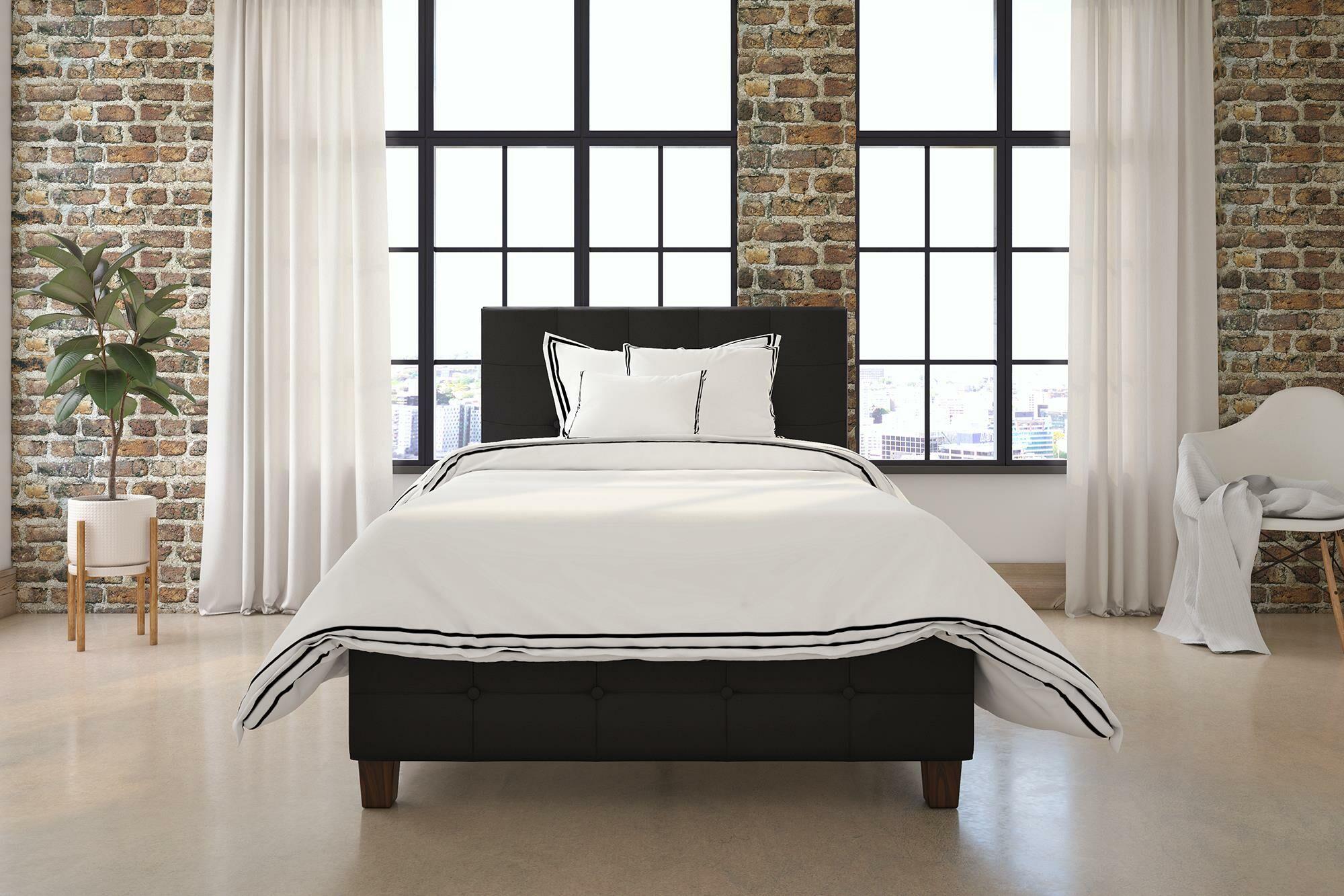 Amherst Upholstered Platform Bed Color: Gray, Size: King