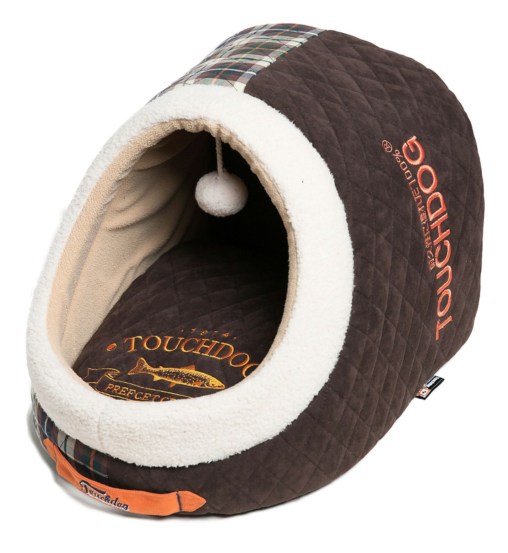 Diamond Stitched Active-Play Indoor Panoramic Designer Dog Bed Color: Dark Brown