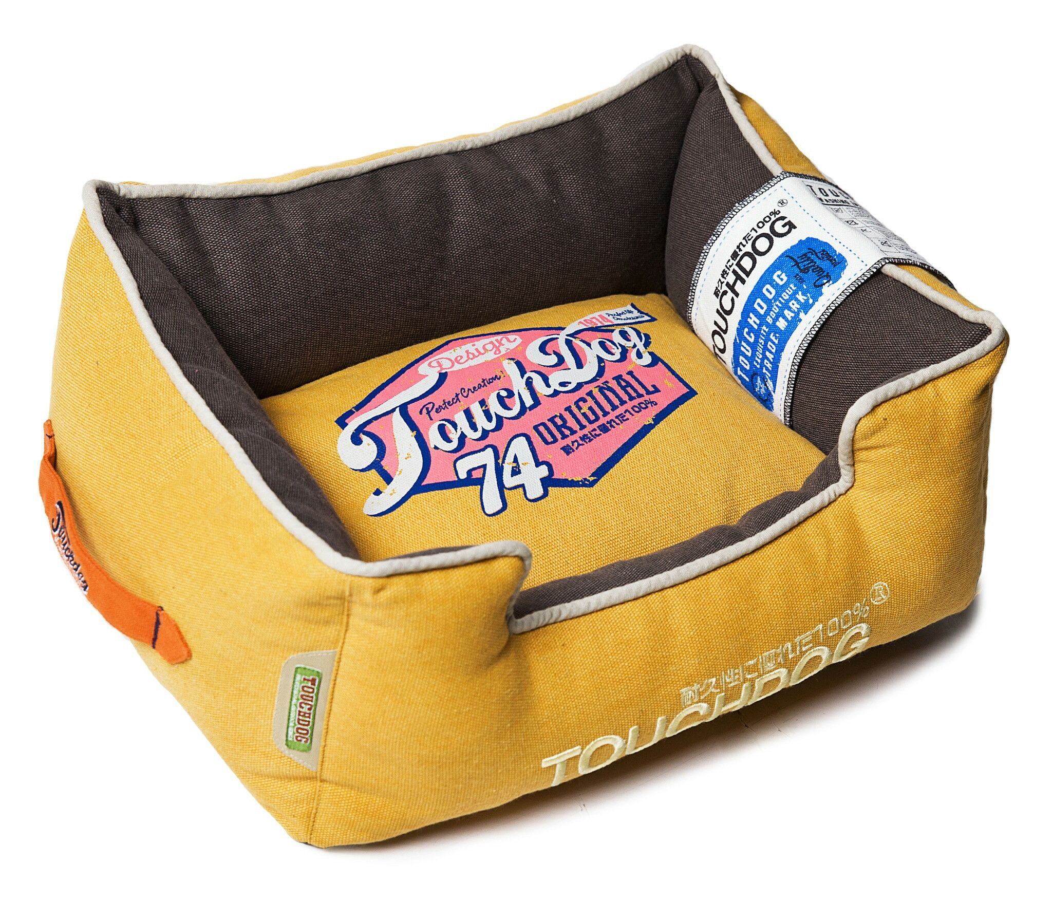 Original Sporty Vintage Throwback Reversible Plush Rectangular Dog Bed Size: Large (25.6