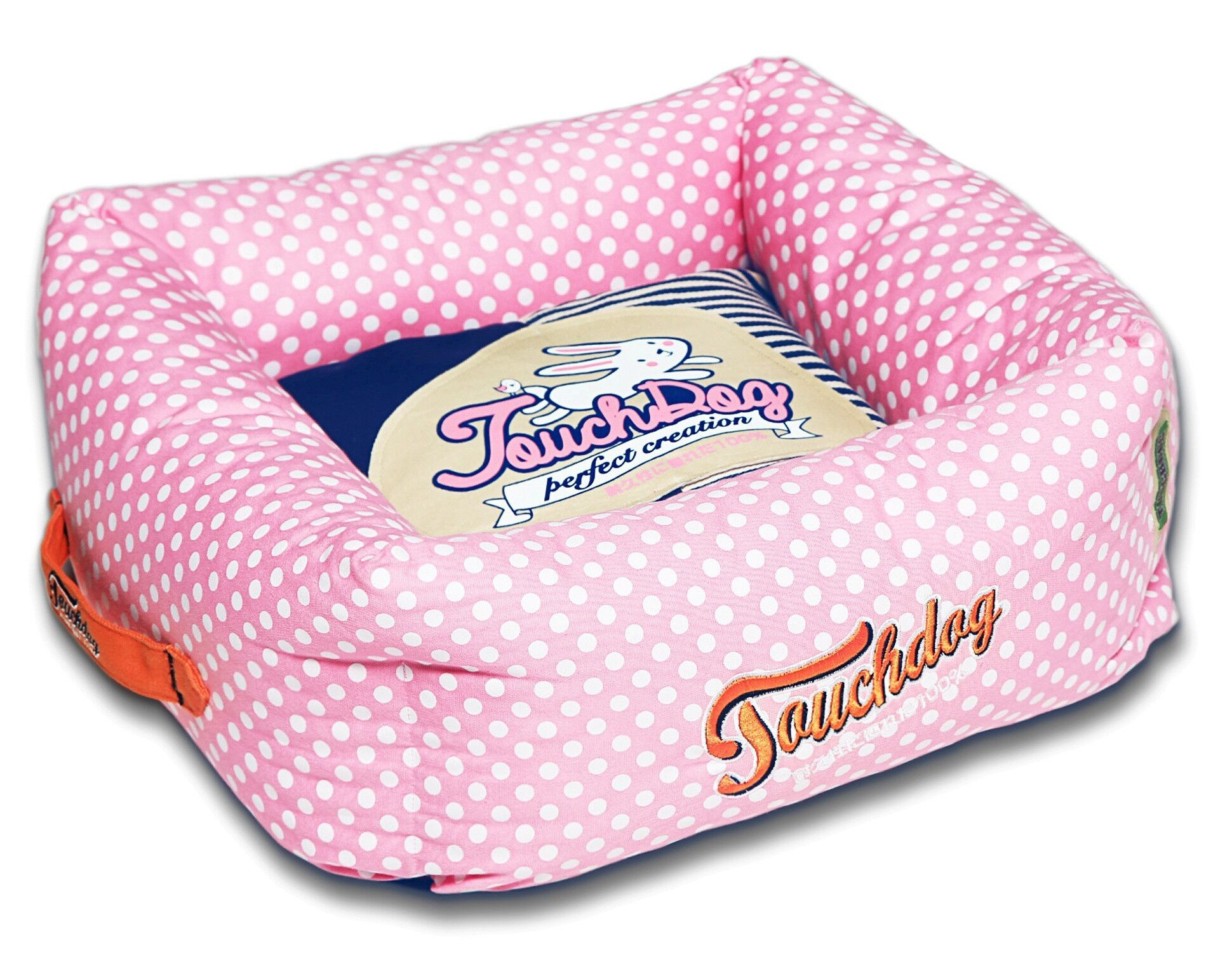 Polka-Striped Polo Easy Wash Squared Fashion Dog Bed Size: Large (23.6