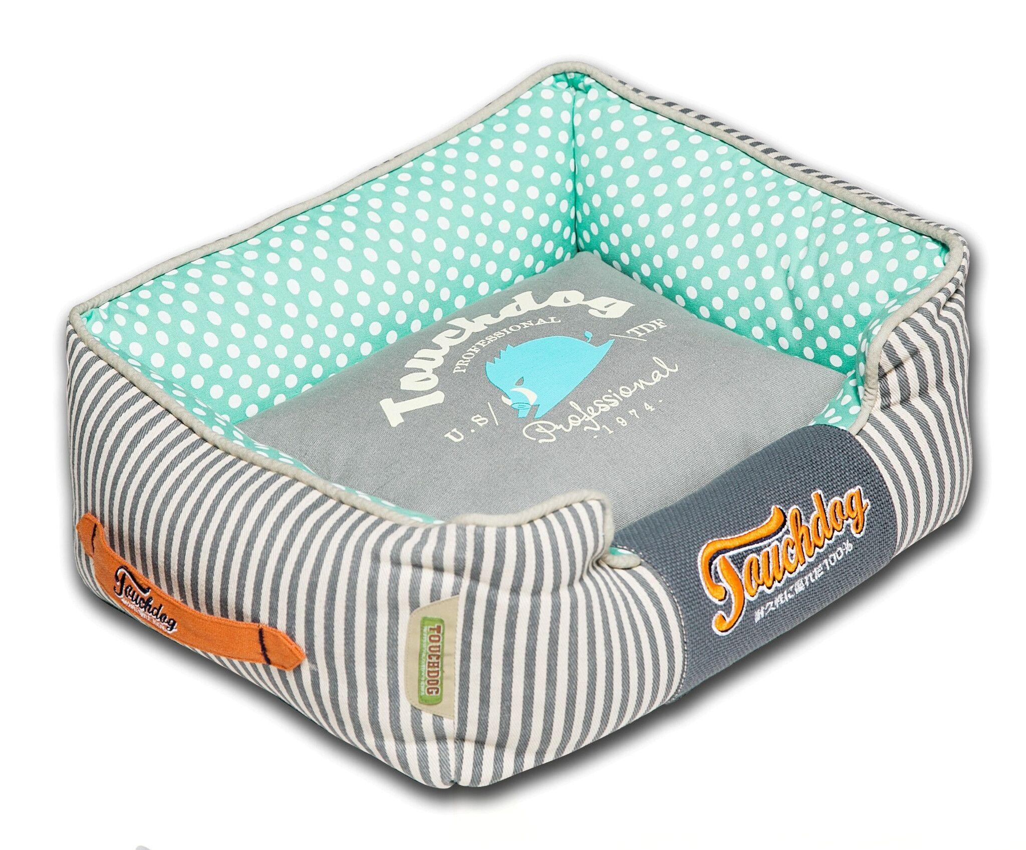 Polka-Striped Polo Easy Wash Rectangular Fashion Dog Bed Size: Large (25.6
