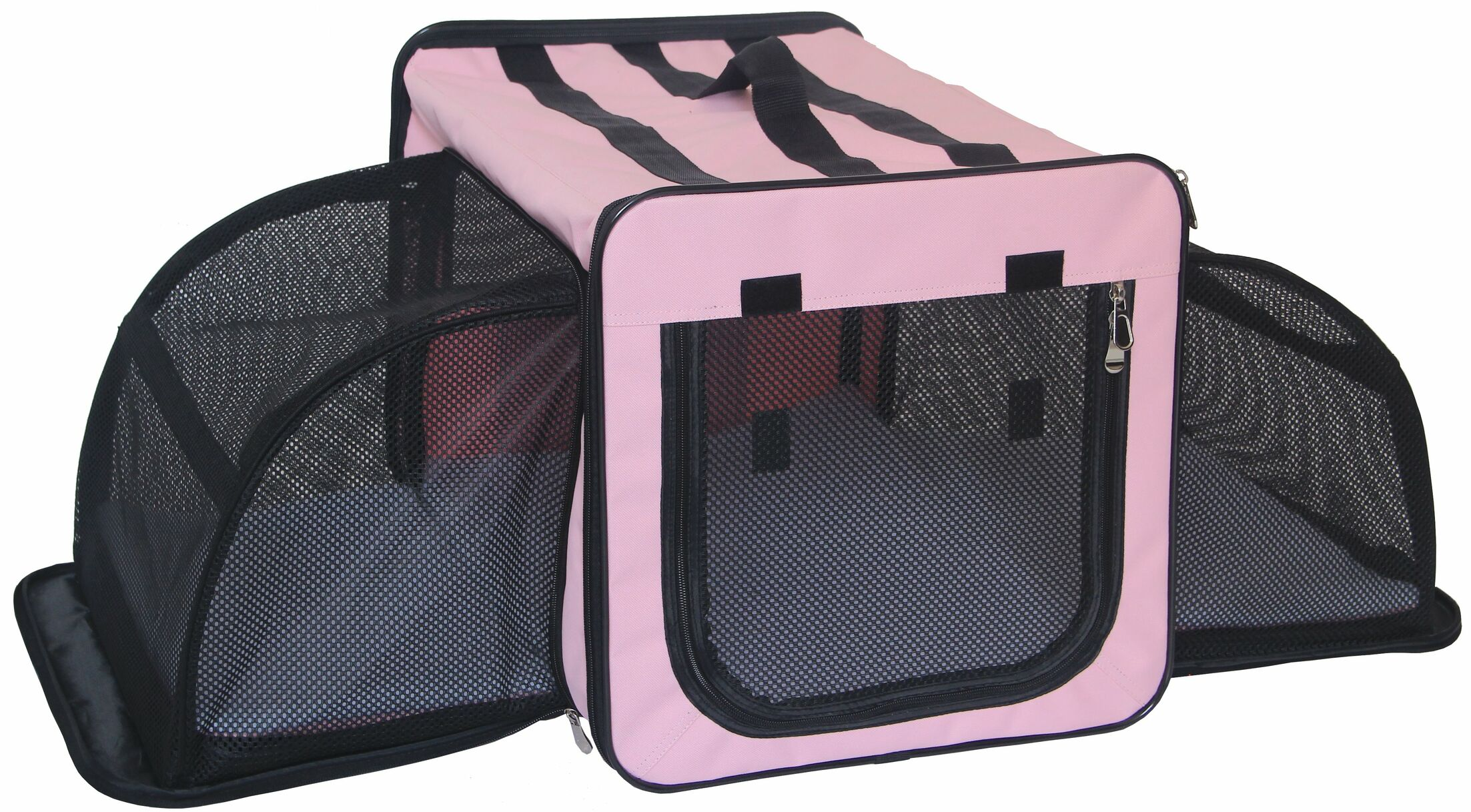 Lachlan Dual-Expandable Wire Folding Lightweight Collapsible Travel Pet Crate Size: 22.8
