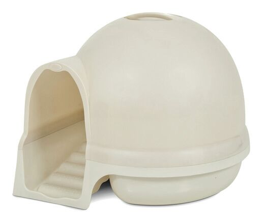 Earl Dome Clean Step Litter Box Color: Metallic Pearl White