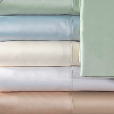 Supreme Sateen 300 Thread Count Solid Pillowcase Color: White, Size: King