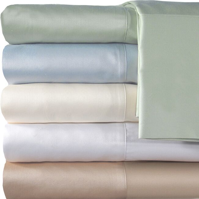 Supreme Sateen 300 Thread Count Solid Sheet Set Color: White, Size: Full