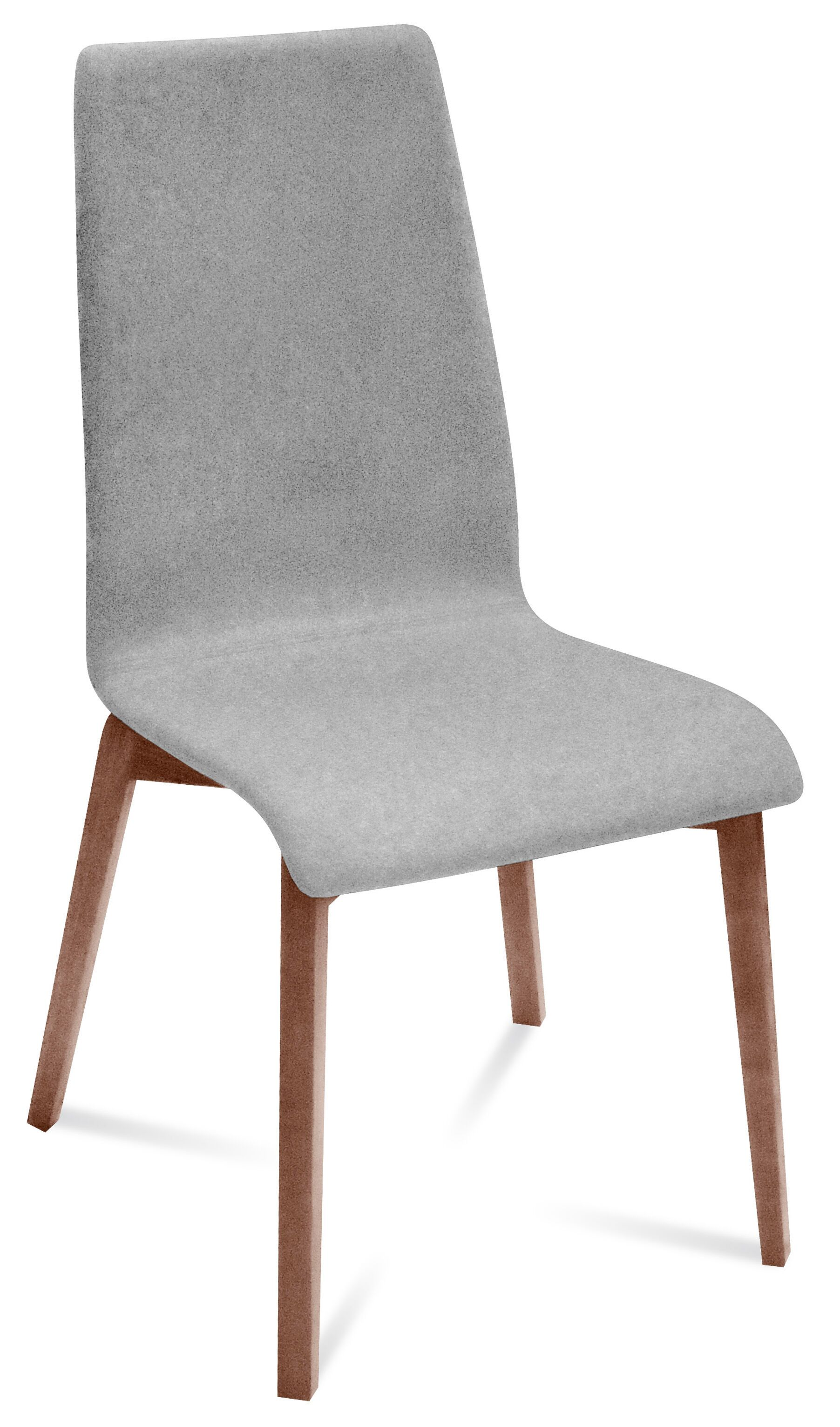 Jill-L Side Chair (Set of 2) Upholstery Color: Light Grey, Leg Color: Walnut