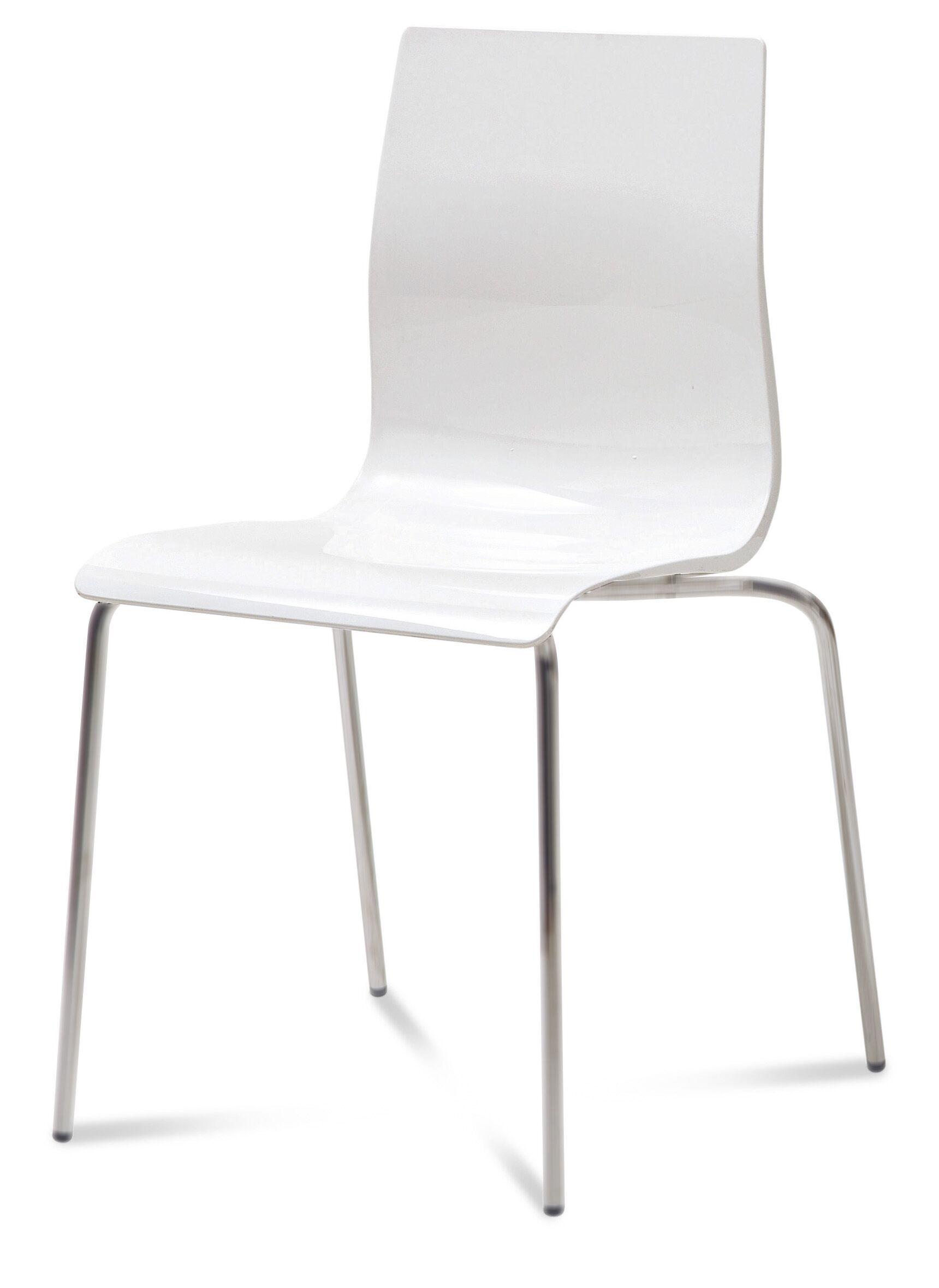 Gel Dining Chair (Set of 2) Finish: Transparent Smoke, Frame Finish: Metal