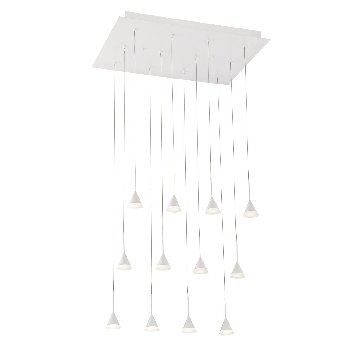 Albion 12-Light  LED  Pendant Finish: White