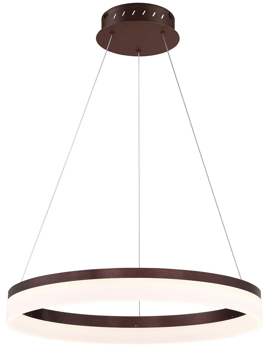 Clarisa Frosted 1-Light  LED  Pendant Finish: Bronze, Size: 76.75