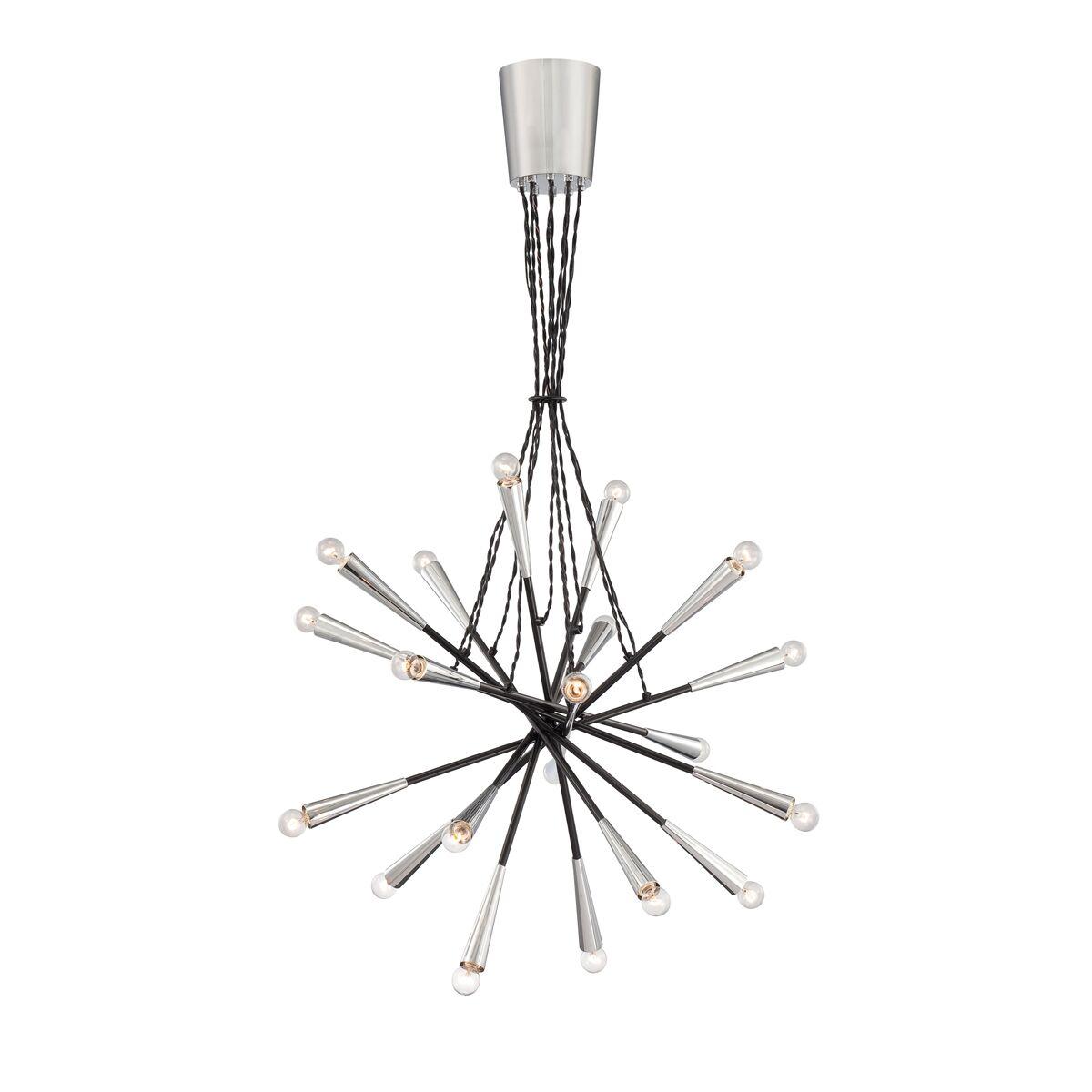 Zazu 20-Light Sputnik Chandelier Shade Color: Black / Black Wire