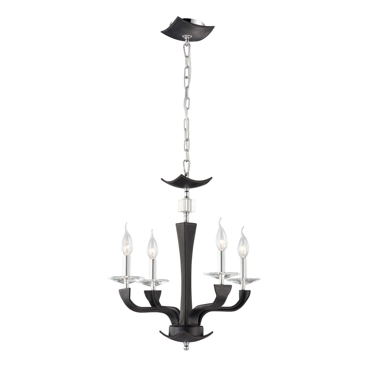 Pella 4-Light Candle Style Chandelier Shade Color: Black (Lichee)