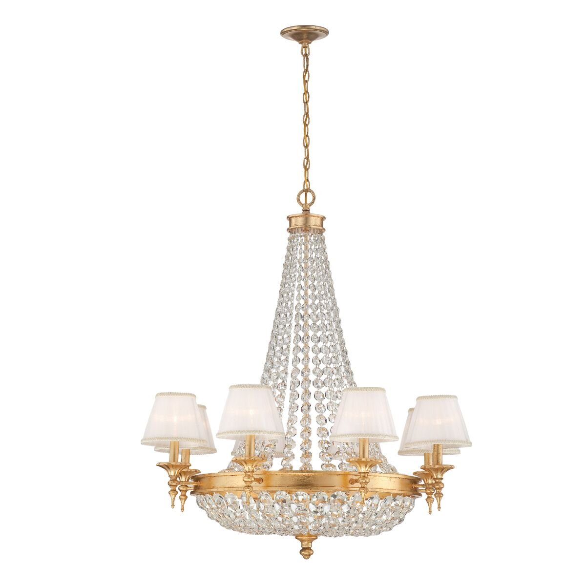 Lower Hounsley 12-Light Shaded Chandelier