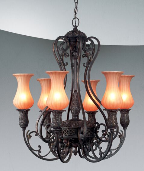 Richtree 6-Light Shaded Chandelier