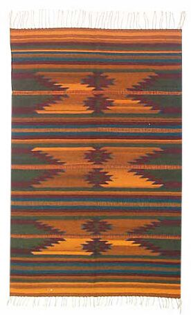 Ocre Zapotec Area Rug Rug Size: 4'1