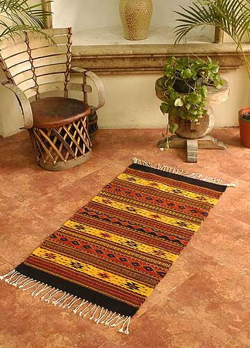 Oaxaca Sun Zapotec Area Rug Rug Size: Rectangle 2'7