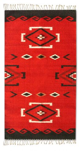 Zapotec Red Area Rug Rug Size: 2' x 3'4