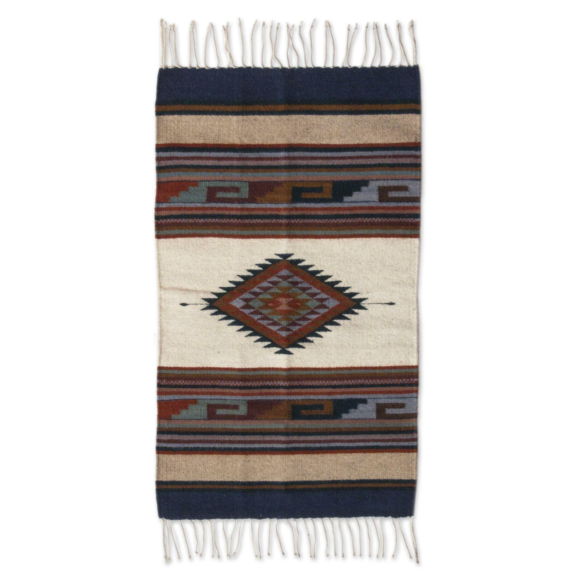 Hand-Woven Desert Area Rug