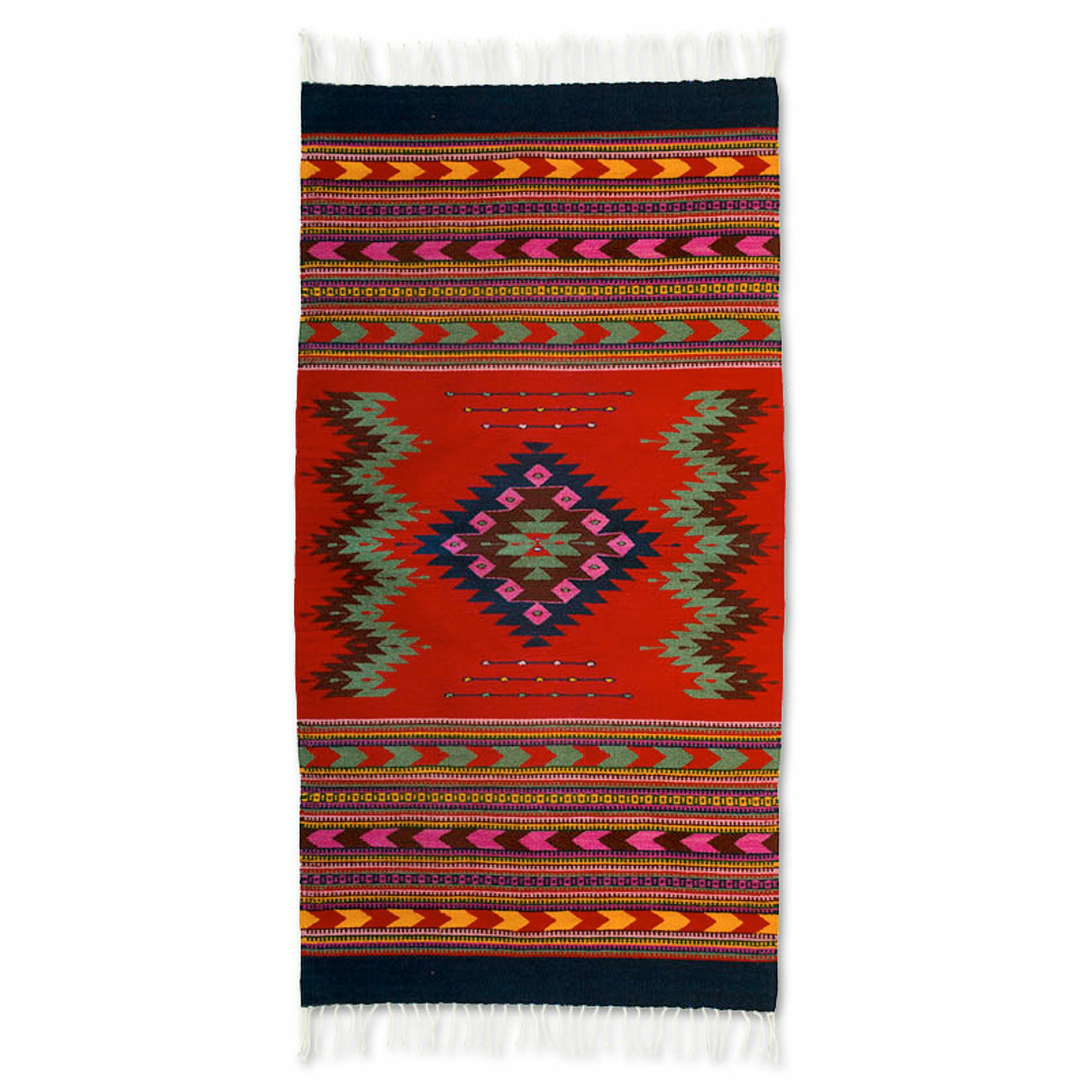Fair Trade Hand-Woven Red Area Rug