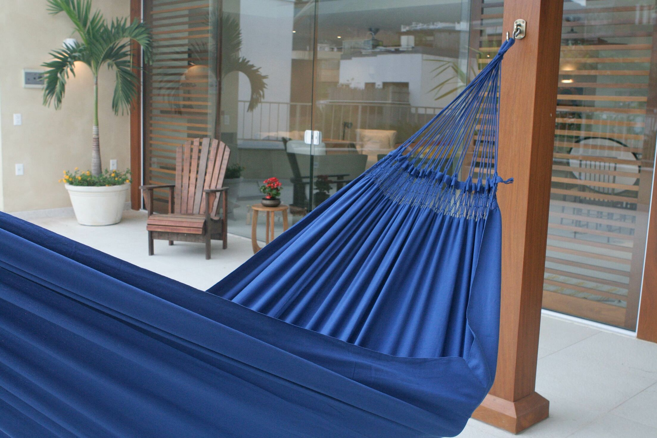 Maya Artists of The Yucatan Double Person Sustainable Backyard and Outdoors Hand Woven  Cotton Tree Hammock