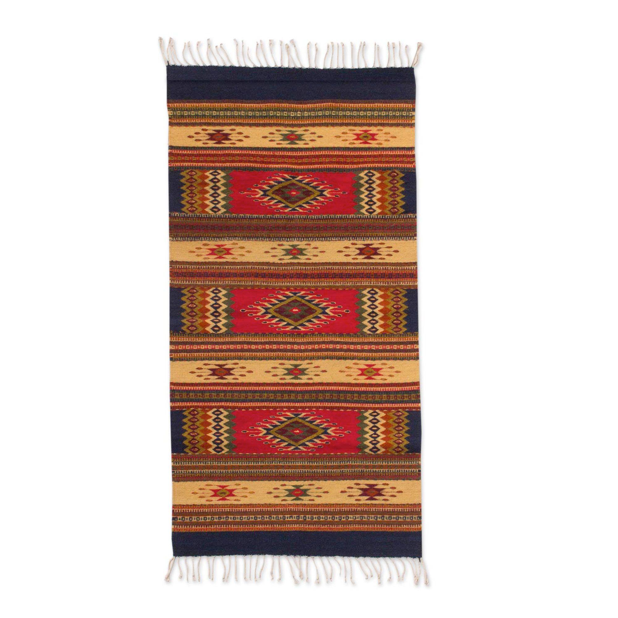 Hand Woven Brown Area Rug