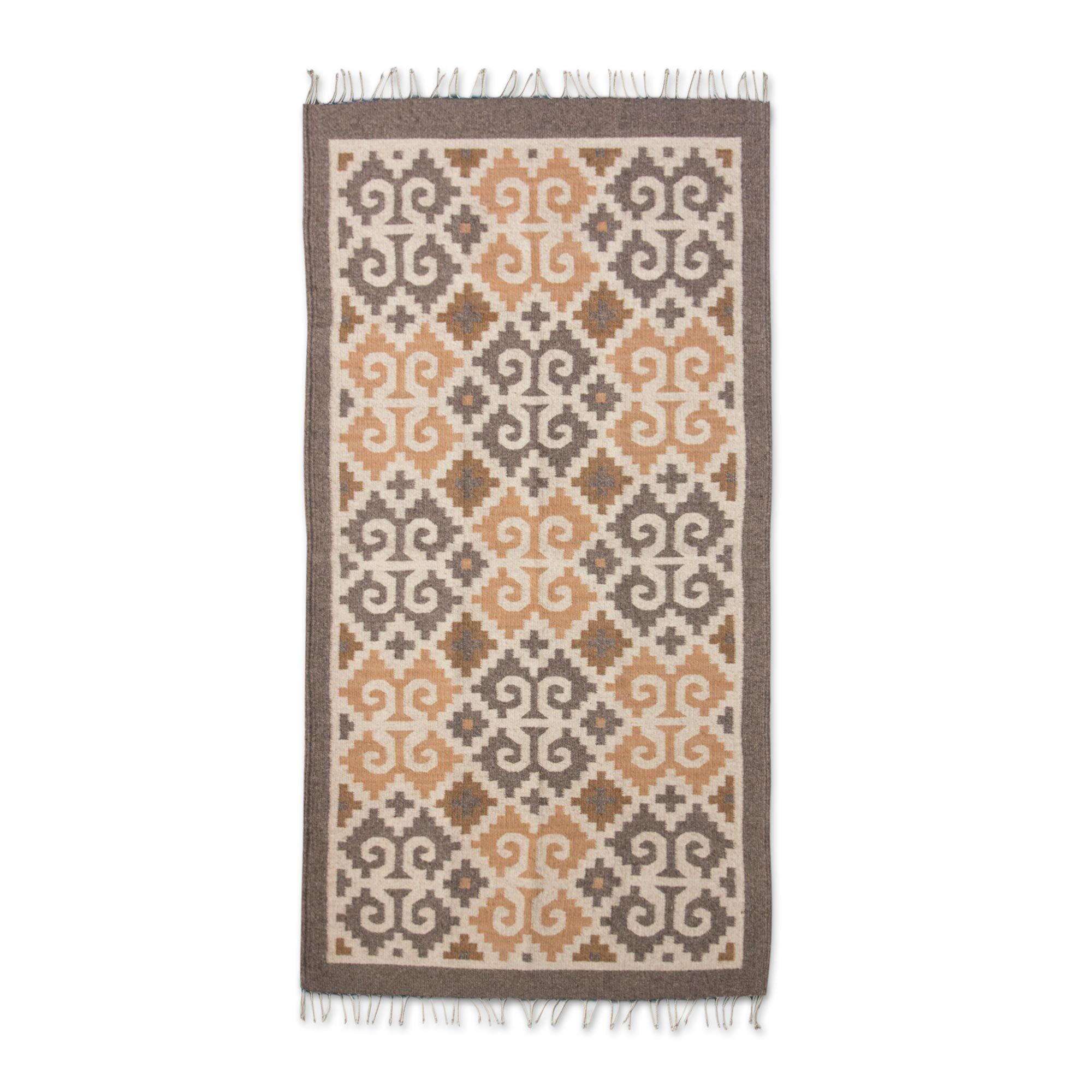 Weare Hand Woven Brown Area Rug