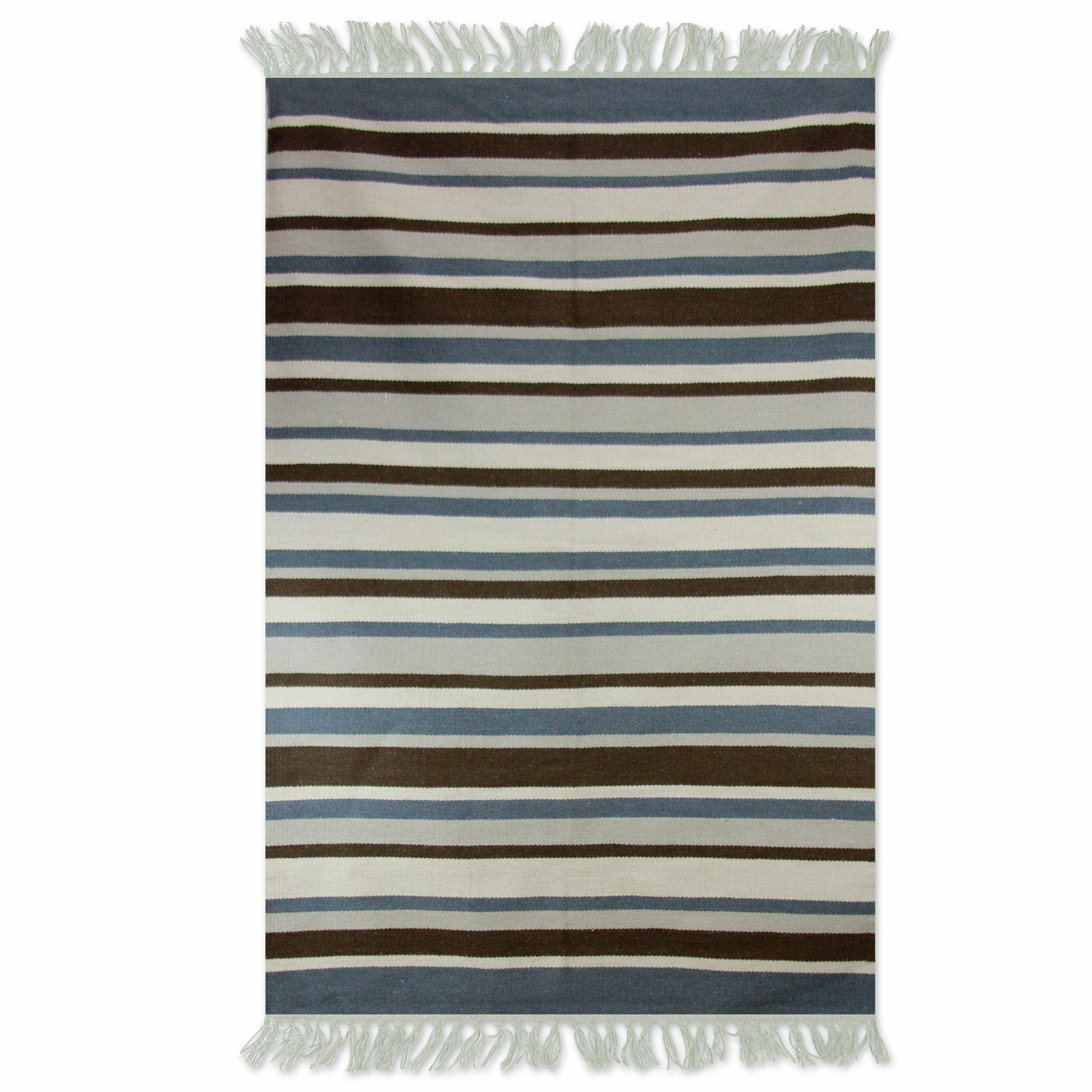Handmade Gray/Blue Area Rug