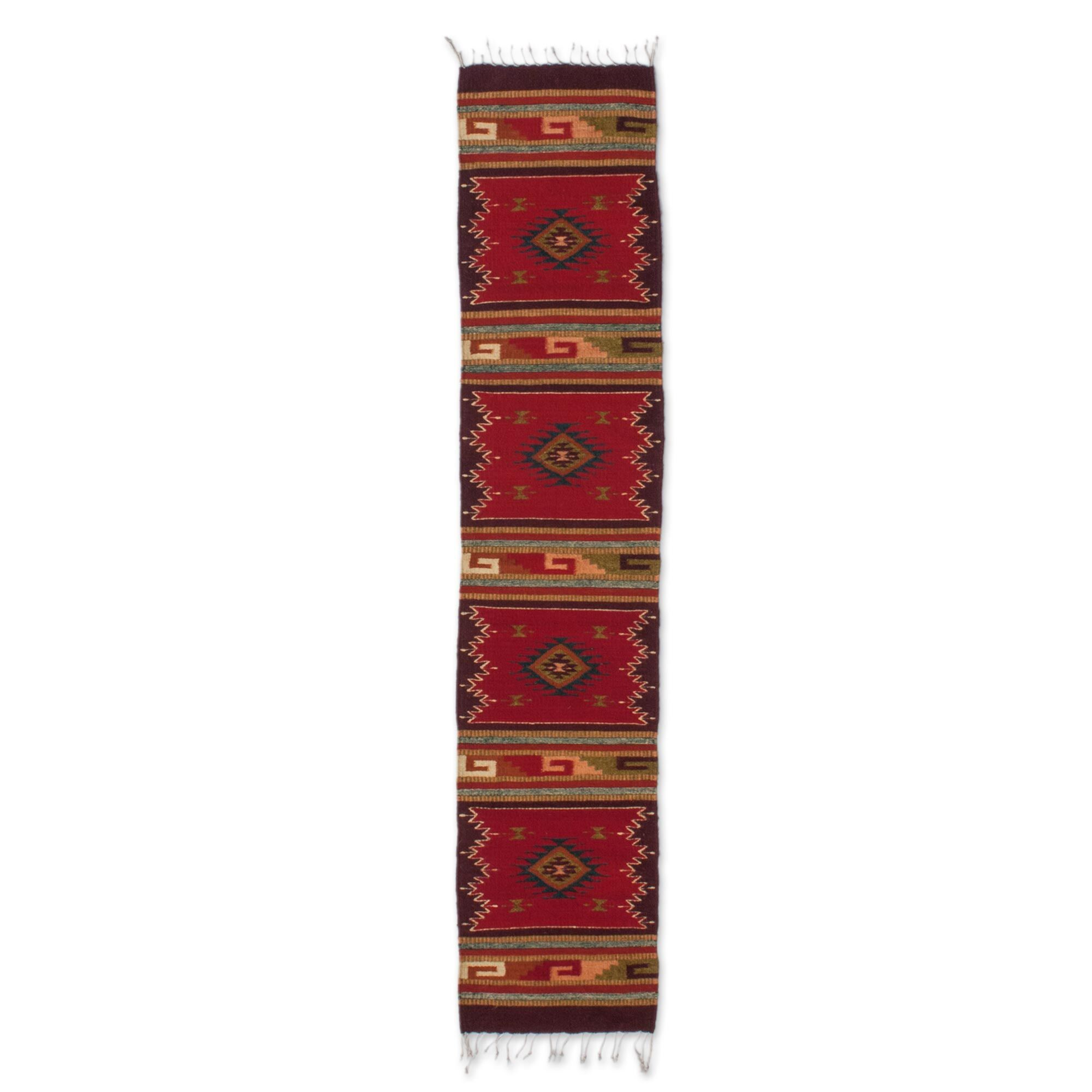 Weare Hand-Woven Red/Brown Area Rug