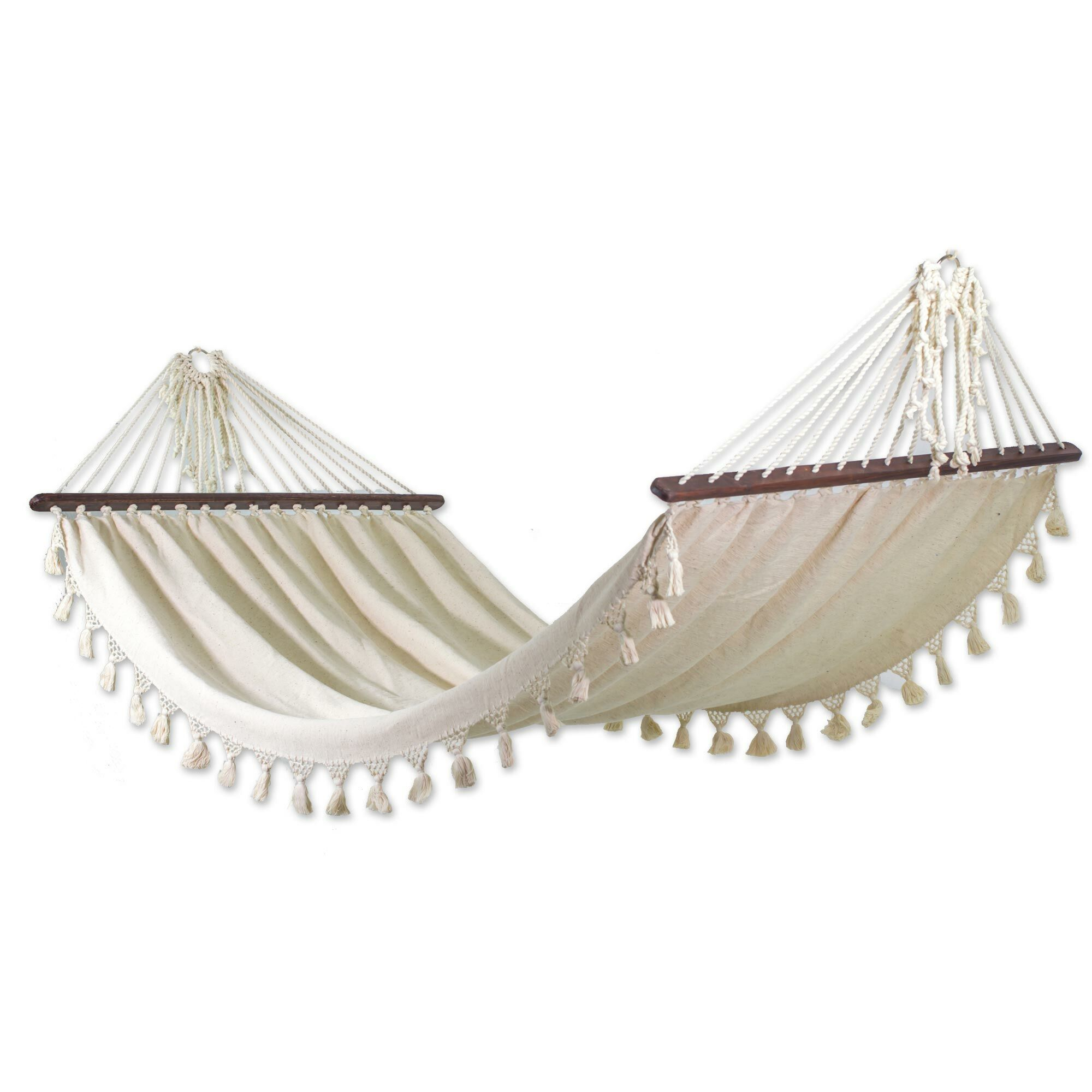 'Fair Trade Take Me to the Sky' Tree Hammock Color: Ivory