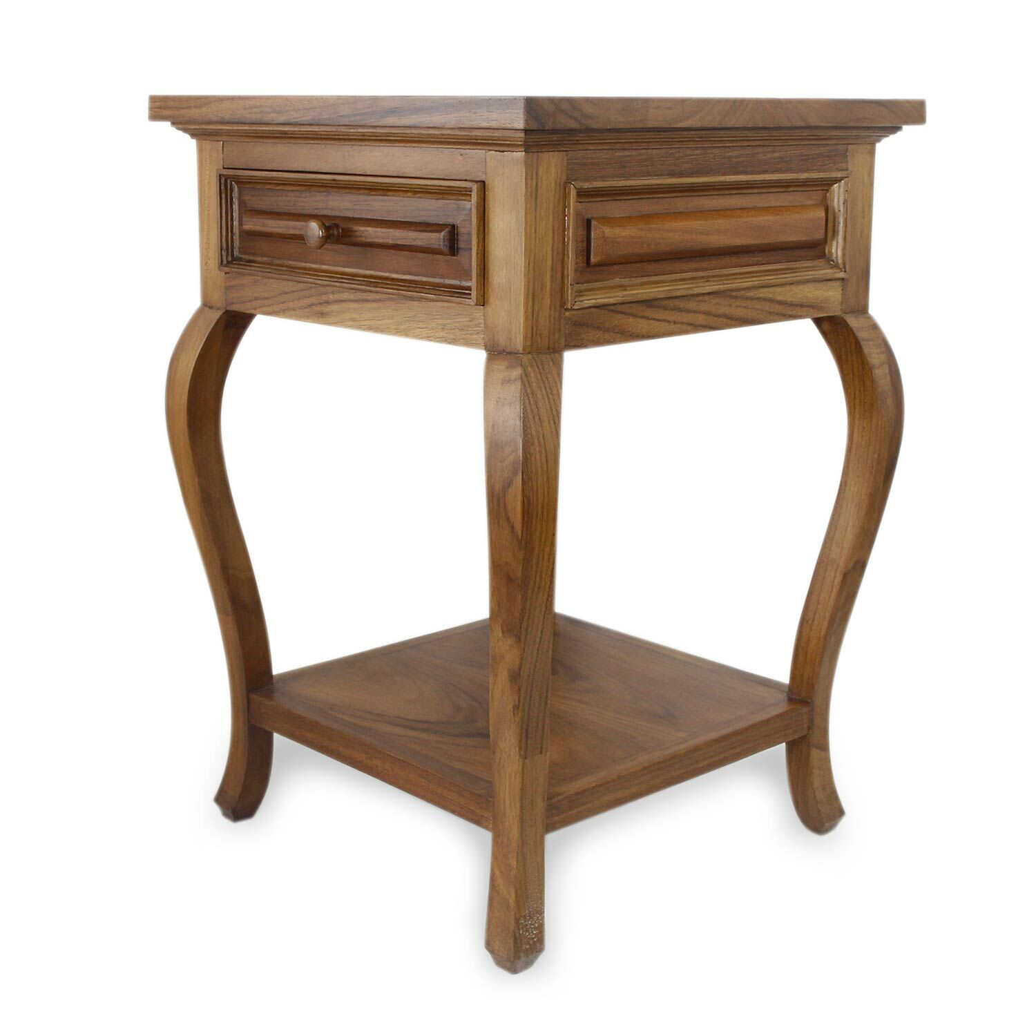 Yoakum Parota Wood End Table with Storage