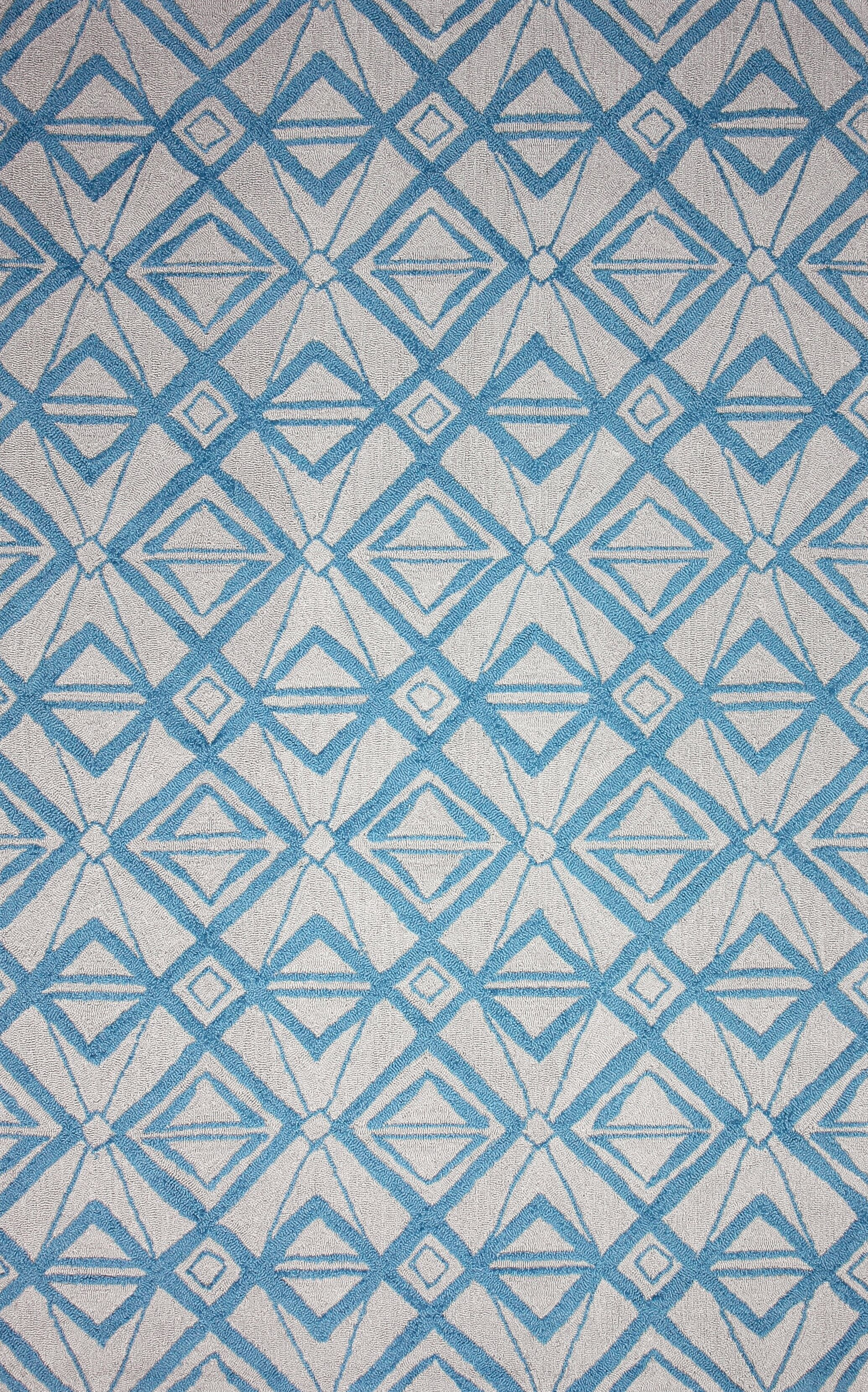 Novel Imture Hand-Hooked Light Blue Outdoor Area Rug Rug Size: Rectangle 7'6