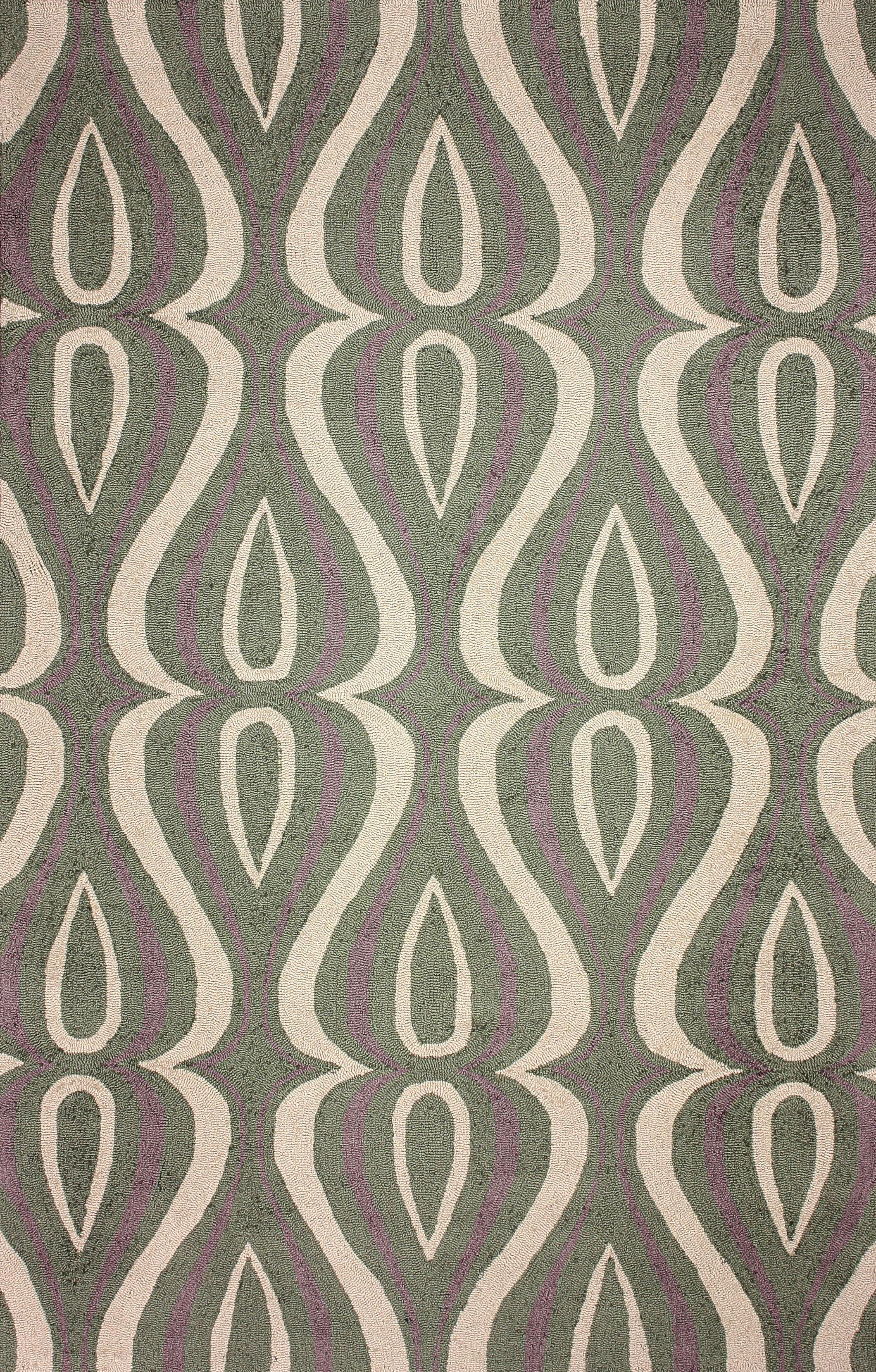 Uzbek Green Luciano Rug Rug Size: Rectangle 5' x 8'
