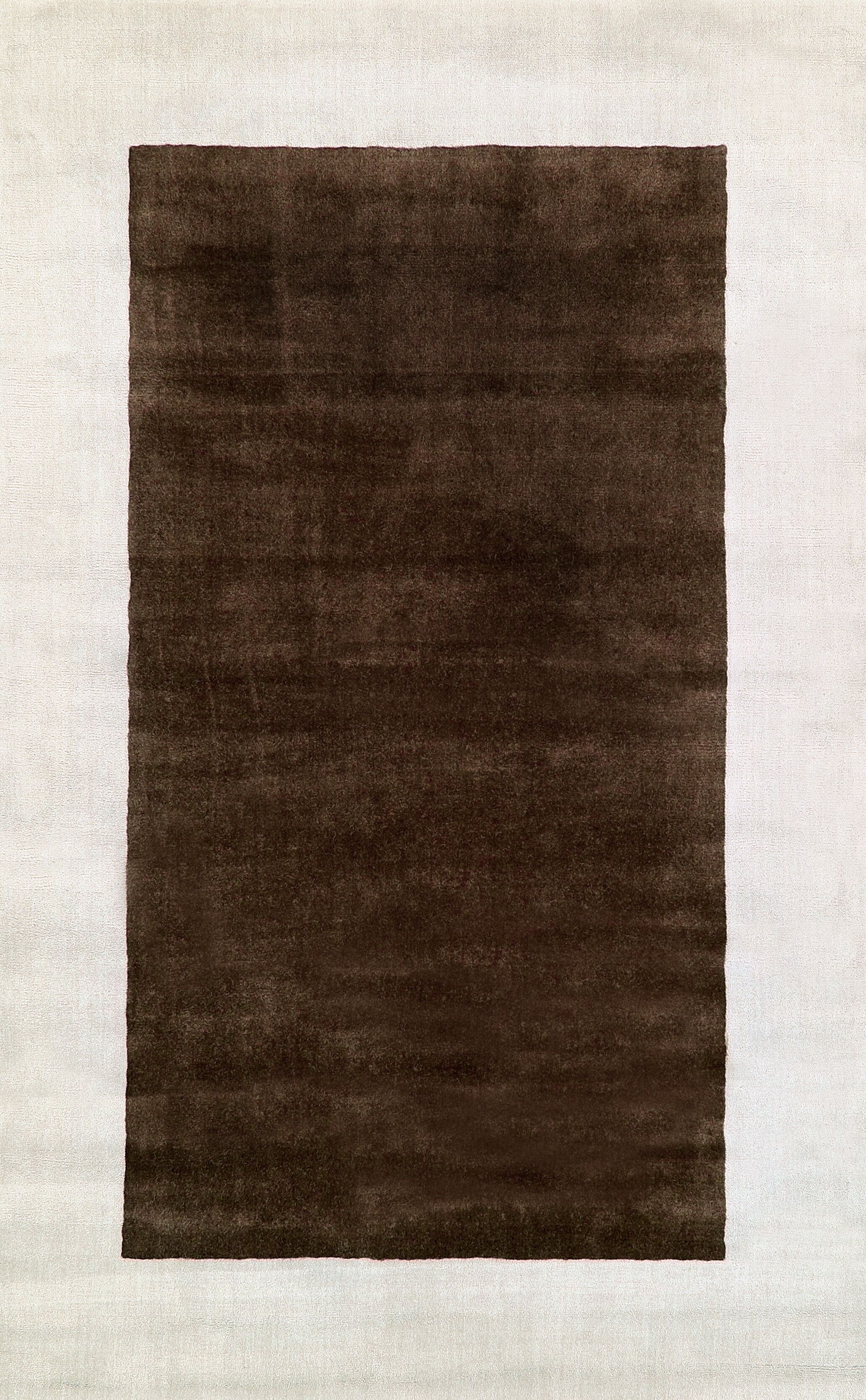 Occhena Hand-Woven Wool Brown Area Rug Rug Size: Rectangle 7'6