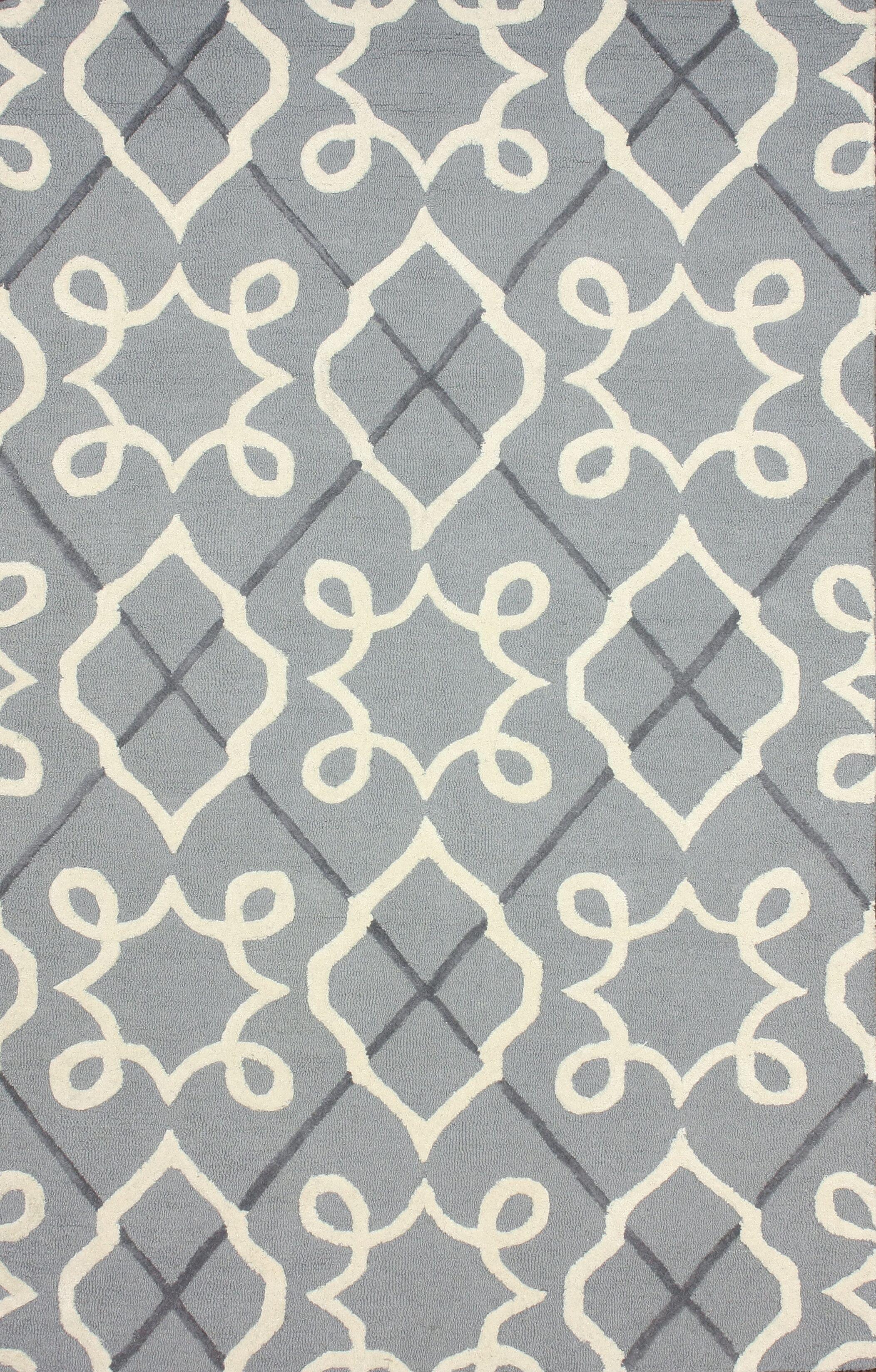 Varanas Hand-Tufted Wool Gray Area Rug Rug Size: Rectangle 8' 6