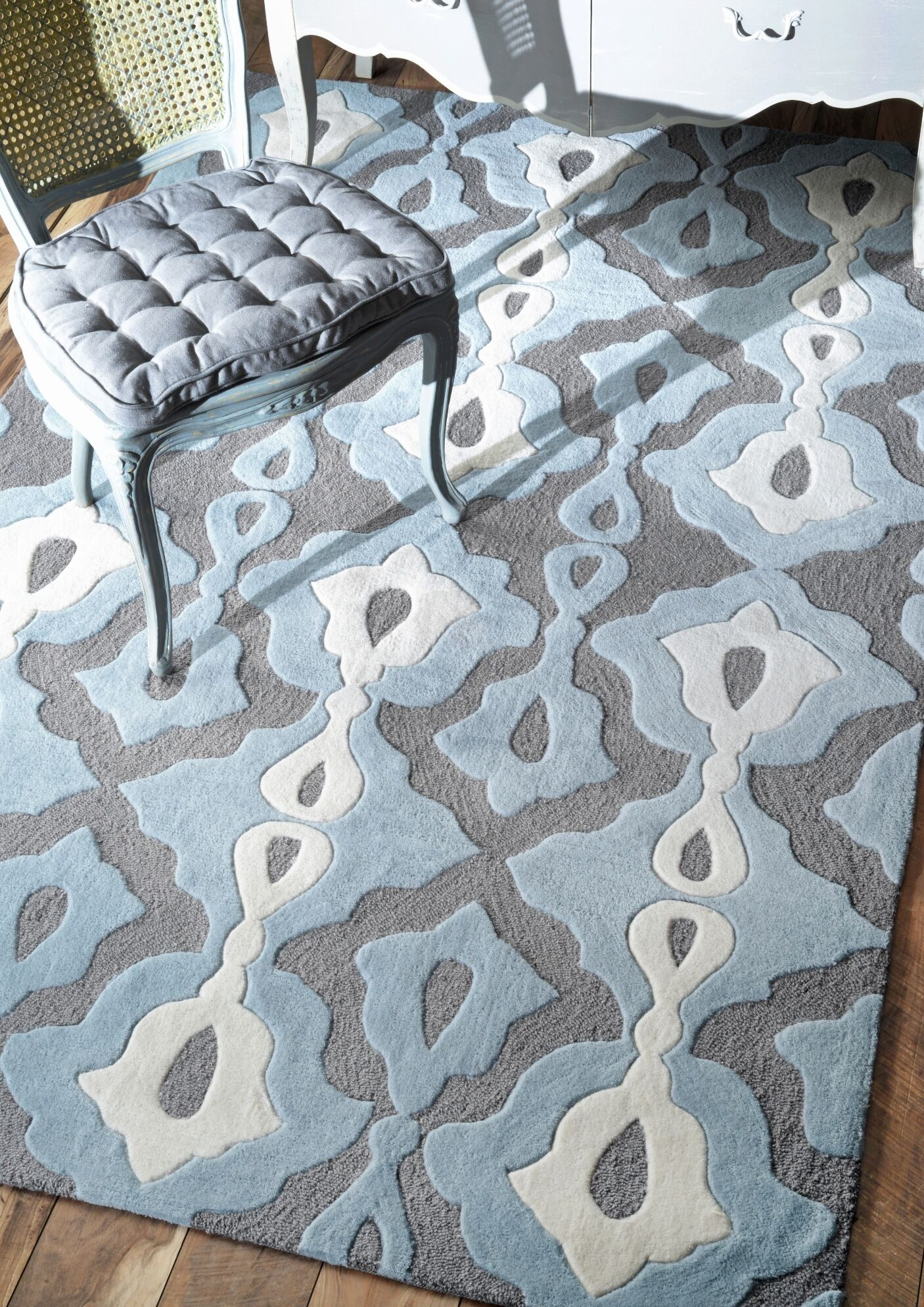 Todd Hand-Tufted Slate/Blue Area Rug Rug Size: Rectangle 5' x 8'