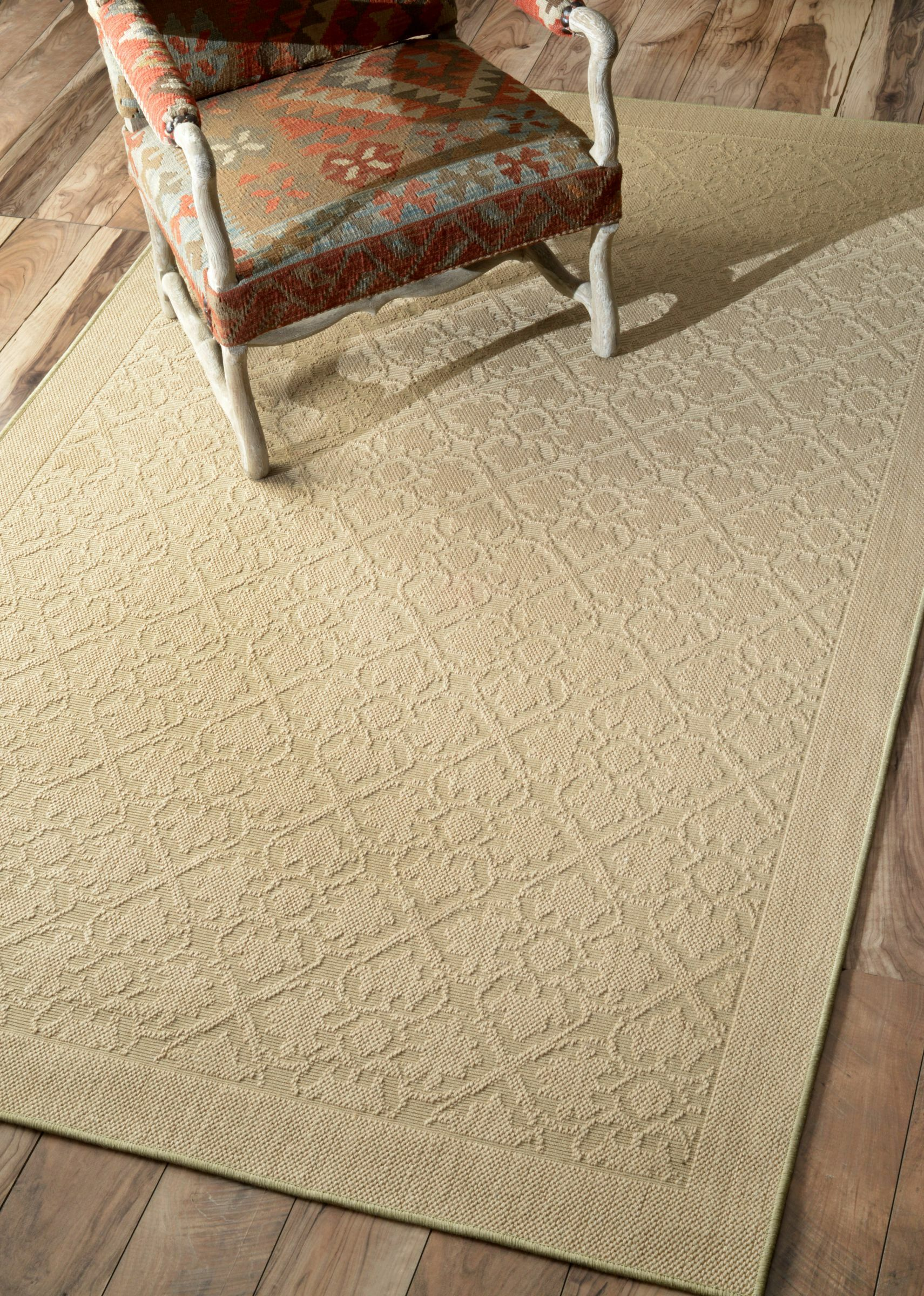Natura Solid Beige Area Rug Rug Size: Rectangle 8' x 10'