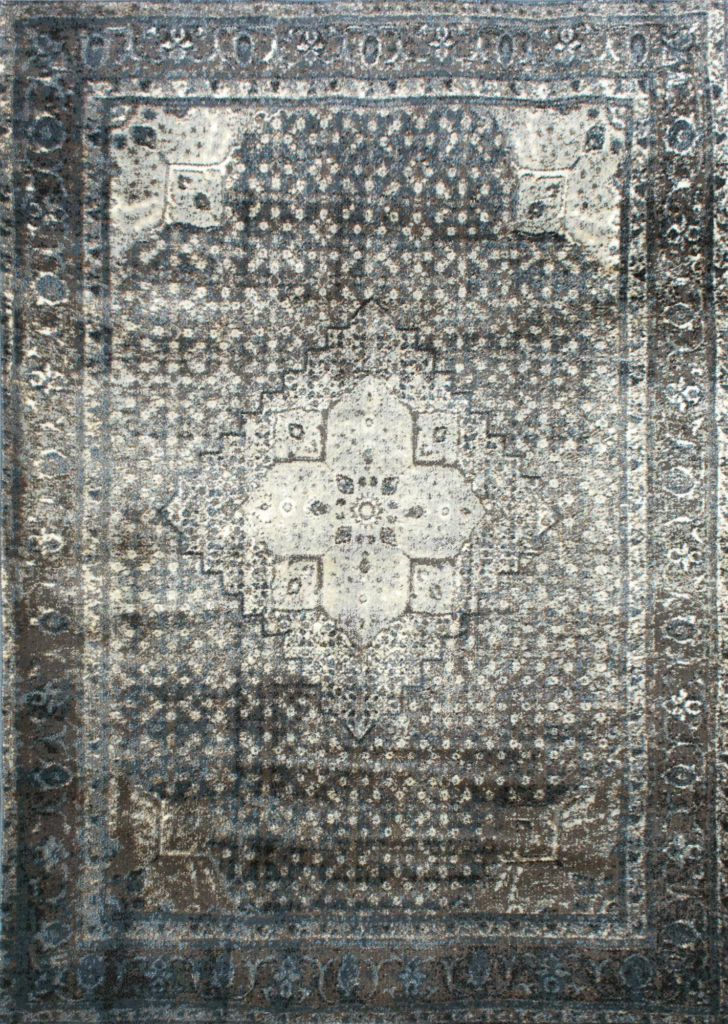 Pascoe Blue/Grey & Silver Area Rug Rug Size: Square 12' x 15'