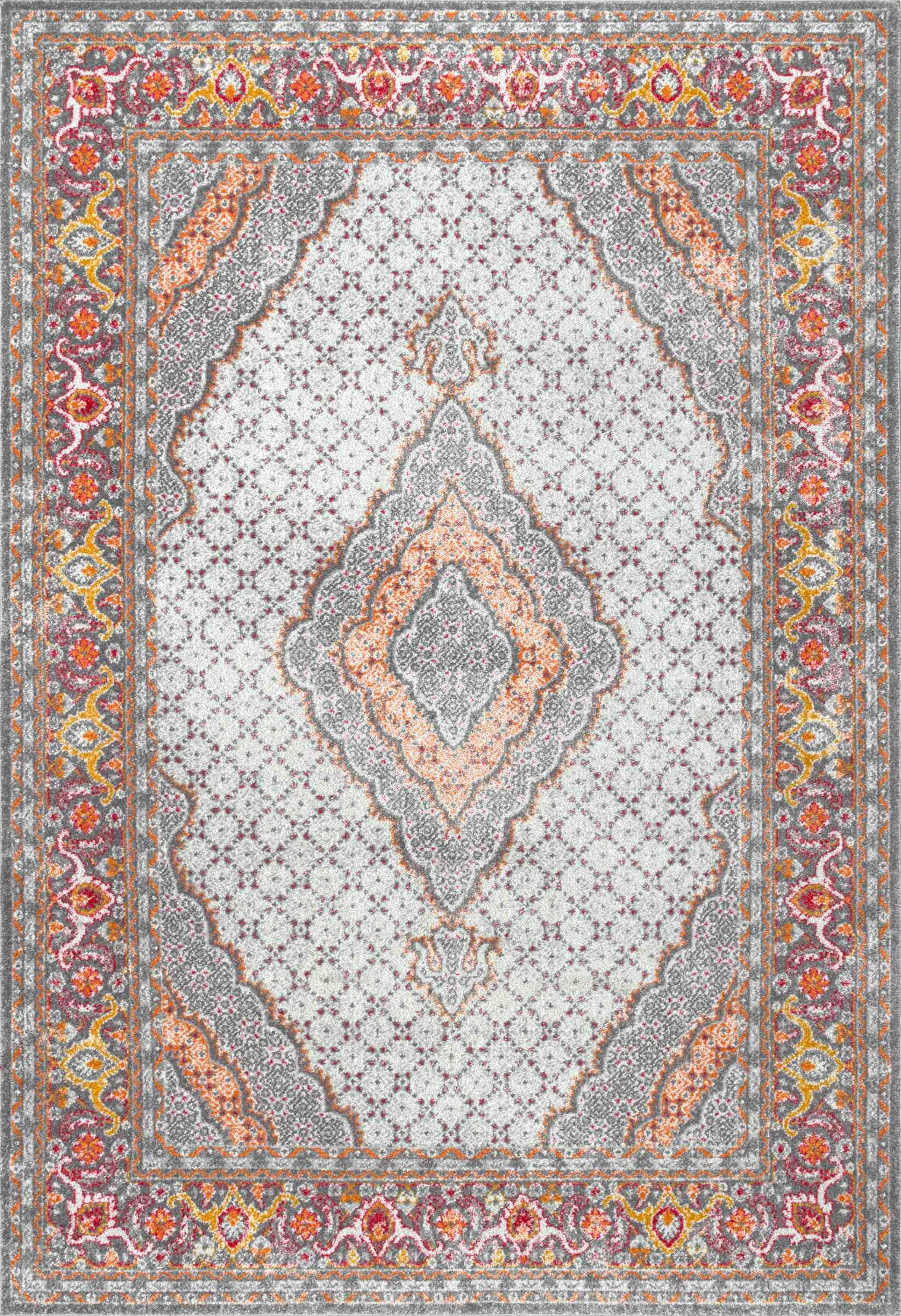 Cendrillon Orange Area Rug Rug Size: Rectangle 8' x 10'