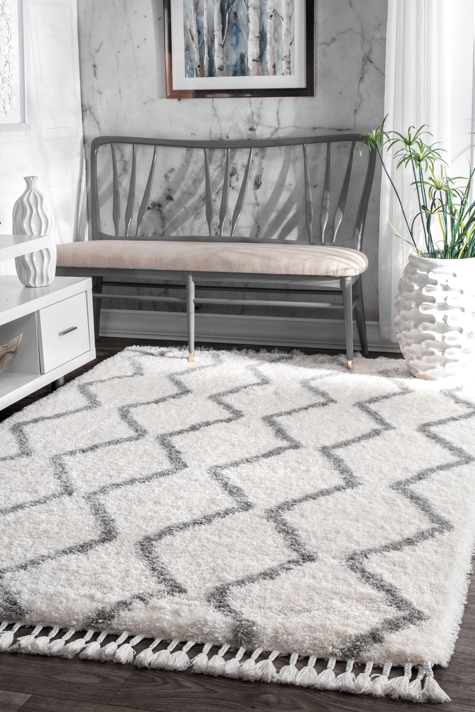 Kerns Gray Area Rug Rug Size: Rectangle 7'10