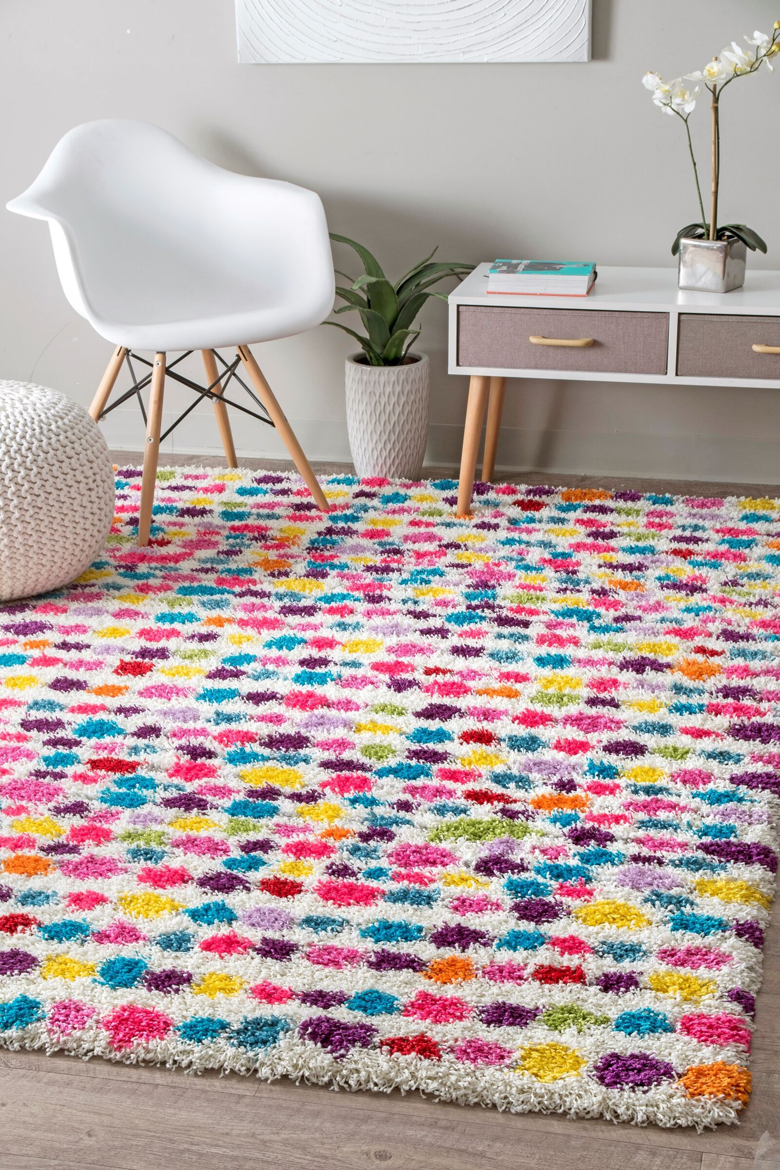 Mira Red/Blue Area Rug Rug Size: Rectangle 4' x 6'