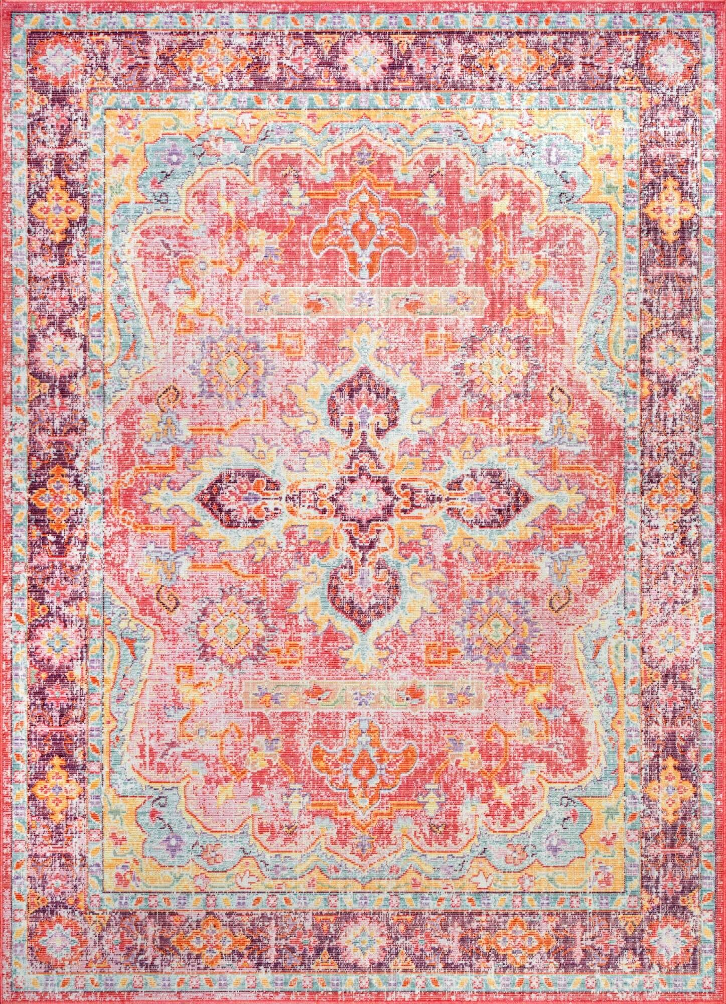 Montville Pink Area Rug Rug Size: Rectangle 5'6